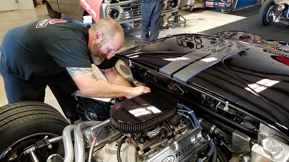 Sanding and polishing the GT's paint-ben-installing-wire-looms-2-jpg