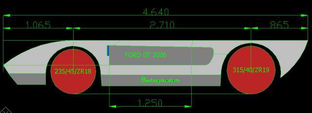 ford gt side view blueprint-horizantaldimensions-jpg