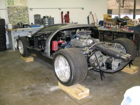 GT40 Mark I Replica project car for sale:-rear-jpg