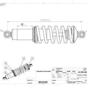 SPF Front Shock Absorber Drawing