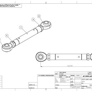 SPF Top Link Arm Drawing